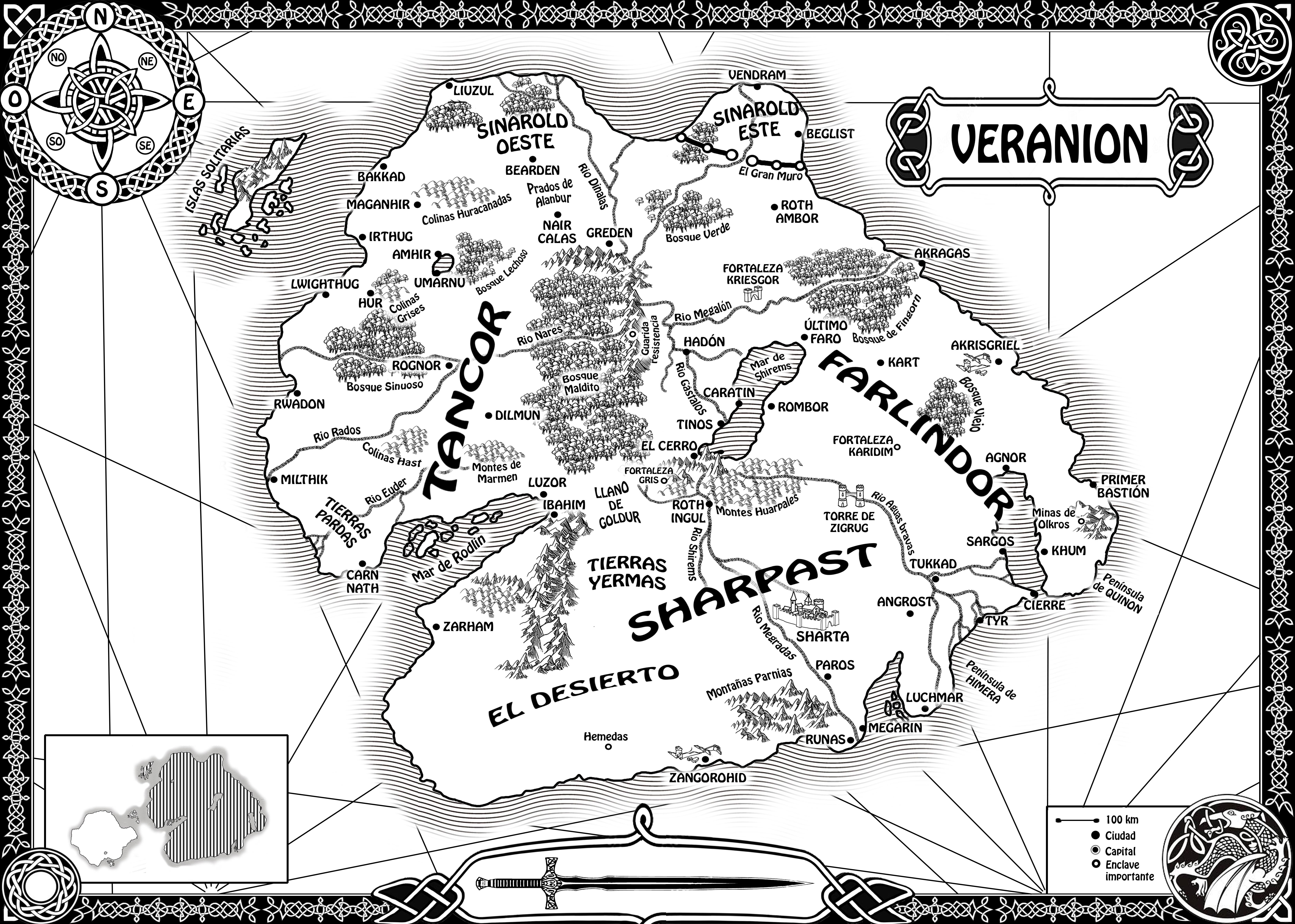 mapa de veranion